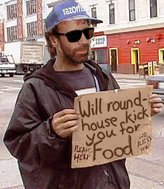 Will roundhousekick for food